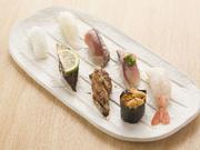 季節の特選ニギリ寿司八カン