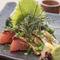 博多名物。福岡長浜市場直送!真鯖の刺身をすりごまと醤油で和えた『ごまさば』