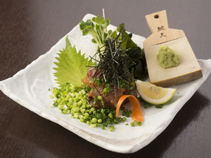 酒の肴におすすめ。活〆した五島列島産『ごまさば』