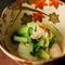 牡蠣の風味と江戸野菜で仕立てた『牡蠣と芯取菜の煮びたし』