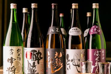 日本全国の日本酒・焼酎が充実◎料理長自らが厳選した至極の一杯をご堪能ください。