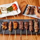 地元京都のおいしい素材をたっぷり満喫『串焼各種』