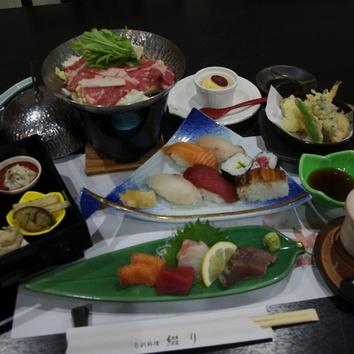 小鍋とお寿司のコース
