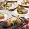 鮮度にこだわった旬の魚や野菜、お肉が楽しめる、フレンチコース