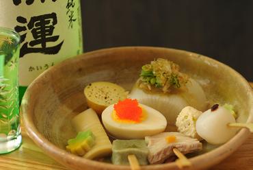 日本酒と合わせていただきたい『おでん盛合せ』