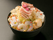 厳選された海鮮の旨味が決め手の豪華な一品です! 『はるのやもんじゃ』