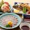揚げ物や刺身、蟹サラダなど、一品料理も充実しています