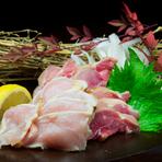 歯ごたえと甘味が絶妙の新鮮な『鹿児島直送! 鶏たたき』