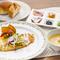 新鮮な舌平目を使用。6種類のかわいい前菜とスープが付いたランチメニュー『舌平目のムニエルランチ』
