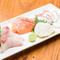 地元の新鮮な鮮魚を中心に盛り付けた『刺身盛り合わせ』