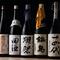 豊富に揃えられた日本酒を料理に合わせて楽しむ幸せなひととき