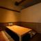 静かな雰囲気の個室で、ゆっくりと癒しの時間を