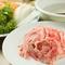 厳選した国産牛を使用。たっぷり添えられた野菜とともに味わう『牛しゃぶ』(牛肉220g・野菜)