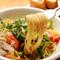 旬を楽しむ『野菜と手作りパンチェッタのアーリオオーリオ』