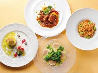 さまざまな旬のイタリア食材を織り交ぜたコース料理