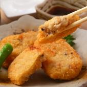 自家製のかつおが効いた麺つゆで食べる『おからコロッケ』