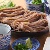 ツルツルと、のど越しの良い細麺『ざるそば』