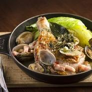 肉、魚介、野菜が織りなす春の味わい