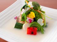 季節に合わせた旬の食材を味わう『炙り寿司』※懐石コースより