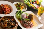 前菜 サラダ 揚げ物 タパス料理 ステーキ パスタ 大満足のボリュームに飲み放題が2時間(l.o1h40min)付いたお得なコースです! ※4名様以上