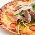 イタリア直送生地で焼き上げたピザ 生ハムのプロシュート