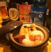 鱧の骨を一枚一枚丁寧に焼き上げ、1日じっくり鱧の旨味をひいたお出汁です。上品かつ旨味たっぷりの鱧出汁は、どんな食材とも相性ぴったり!そんな贅沢な鱧出汁を京都の食材をふんだんに使ったおでんで仕上げました