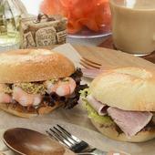 天然酵母を使ったベーグルのモチモチ食感がたまらない『ベーグルのサンドイッチ』