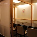 接待に最適 落ち着いた雰囲気の和食店です。