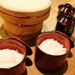 羽釜で炊いたご飯セット(一人前)