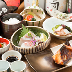 日本の食卓はおいしいごはんから。炭火焼魚をメインとしたコース