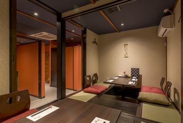 全席個室、上質な大人の空間でゆったり食事を満喫