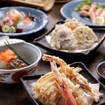 料理長オススメの天ぷらをガッツリと大容量ご堪能いただけるコース。接待や誕生日・記念日などの特別な日にお勧めのコースで御座います。