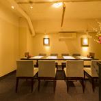 プライベート感で大満足、接待や食事会にぴったりな個室