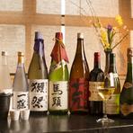 オリジナルの日本酒を飲み比べ、各地の銘酒もそろいます