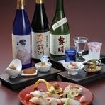 美酒佳肴(びしゅかこう)…美味しい料理に美味しいお酒  長崎県の地酒3種類をお料理に合わせてお楽しみ頂けます。
