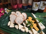 カマンベールチーズ ゴーダーチーズ ゴルゴンゾーラチーズ 三種類の盛り合わせです