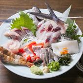 一口食べれば違いに気付く! 山陰旬魚の『刺身盛り合わせ』