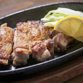 鳥取で生まれ育った銘柄鶏をシンプルに楽しむ『大山どりの炭焼ステーキ』