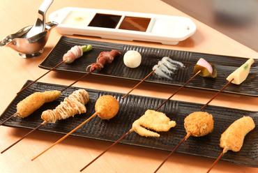 串揚げで旬を感じる事ができる名店【神戸亭】、素材との出会いも楽しみです『季節の串』