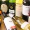 グラスワインは赤・白2種類ずつ、ボトルの品揃えも豊富です