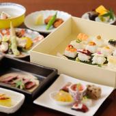 少しずついろいろな料理を楽しめる『姫寿司御膳3500円コース』