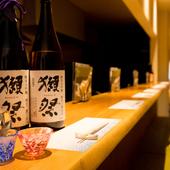 全国各地から取り寄せられた厳選日本酒が充実のラインナップ