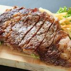 牛ランプ肉タリアータ風