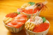 新鮮なネタ、ボリューム、美味い味の『元祖 わがまま丼』