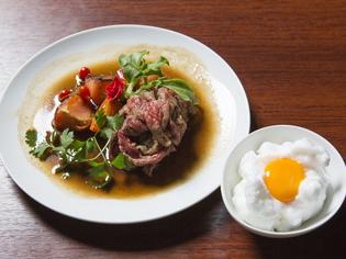 兵庫県産和牛のすきやきフルーツトマト入り~かわり卵をつけて~