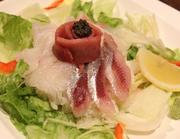 旬の野菜に新鮮な魚介。海の幸をたっぷりと満喫できる、お店自慢の一品です。