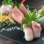 天然ミナミマグロを使用した厳選鮮魚の盛り合わせ