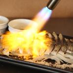 香ばしさとさっぱりとした味わいが魅力の『国産天然自家製〆鯖の炙り』