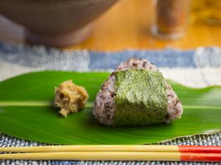 こだわりの古代米を丁寧に炊き上げた『古代米のおにぎり』