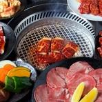 72品目のメニューから注文できるコース。お肉の種類やサイドメニューが更にグレードアップ